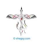 stork tattoo design spring has come