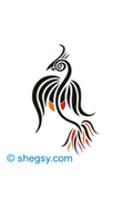 phoenix bird tattoo design